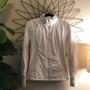 Lululemon Athletica White Running Rain Jacket